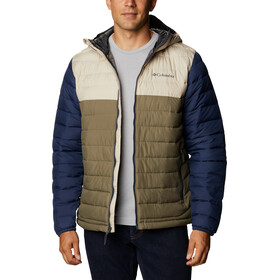Columbia Powder Lite Hooded Jacket Men stone green/fossil/collegiate navy